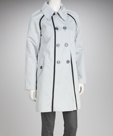 Dove &amp; Black Trim Peacoat