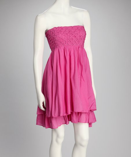Pink Empire-Waist Dress