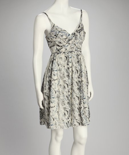 Gray Snake Sleeveless Dress