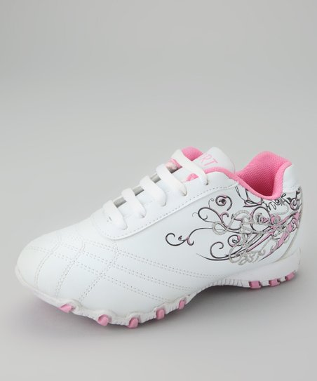 White & Pink Running Shoe