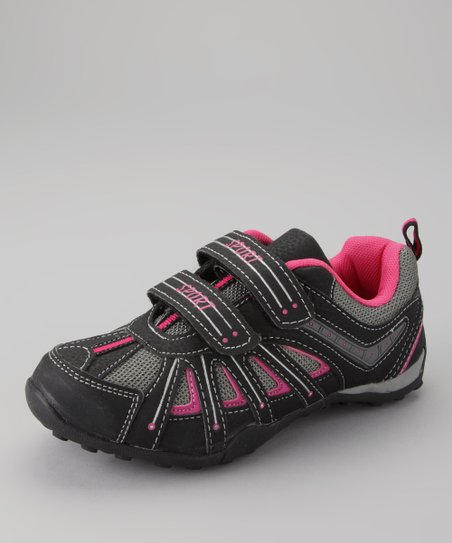 Gray & Fuchsia Running Shoe