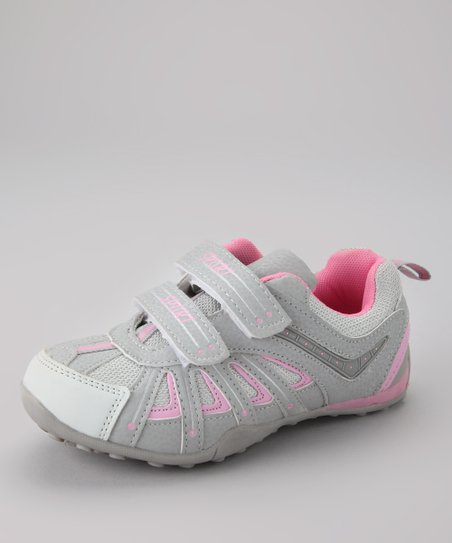 White & Light Gray Running Shoe