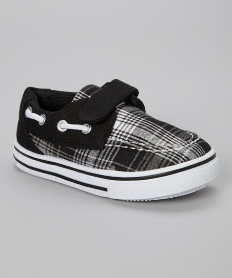 Black & Gray Plaid Slip-On Sneaker