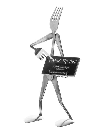 Fork Business Card Holder
