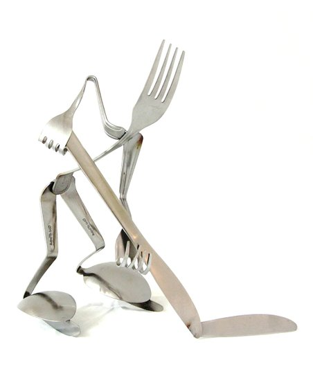 Fork Hockey Sculpture