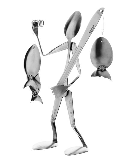 Spoon Fisherman Sculpture