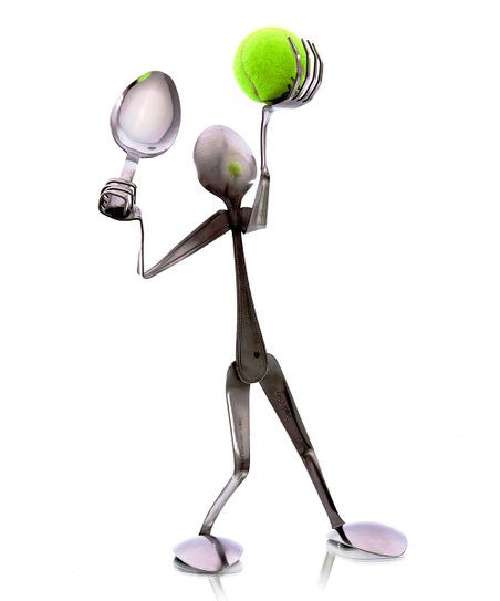 Spoon Tennis Player Sculpture
