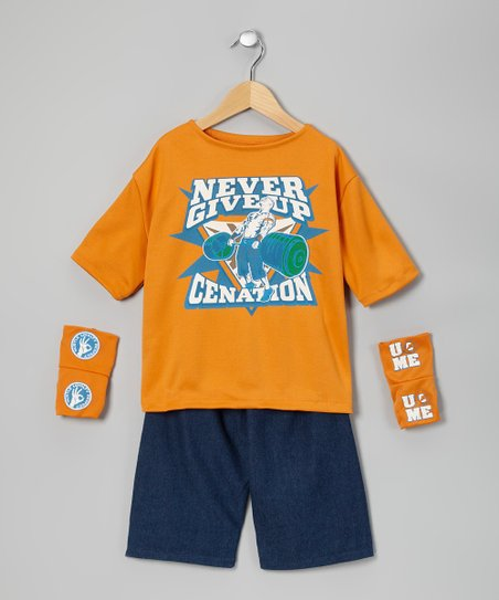 Orange John Cena Dress-Up Set - Kids