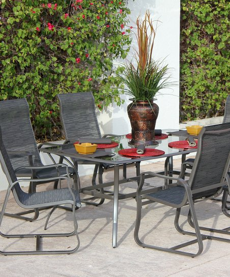 Gray Minorca Seven-Piece Dining Set