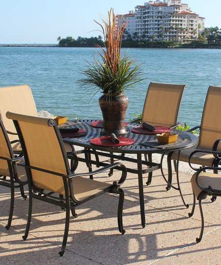 Black & Gold Drake Seven-Piece Dining Set