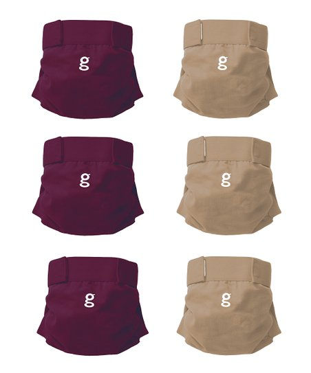 Gooseberry Purple & Gentle Taupe Everyday gPants - Set of Six