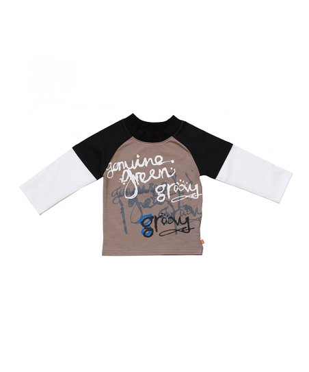 Brown gStreet Layered Raglan Tee - Infant & Toddler