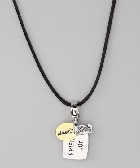 Silver & Gold 'Daughter' Dog Tag Necklace