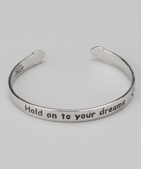 Silver &#039;Hold Onto Your Dreams&#039; Children&#039;s Cuff