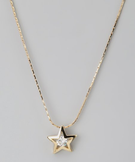 Gold Star Swarovski Crystal Silhouette Necklace