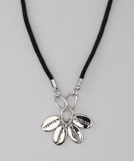 Silver 'Grandma' Language Necklace