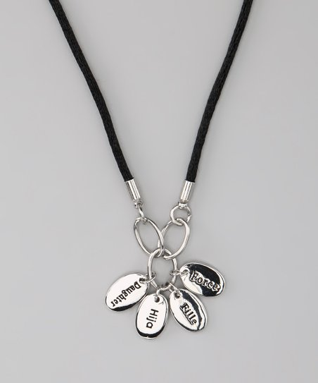 Silver &#039;Daughter&#039; Language Necklace