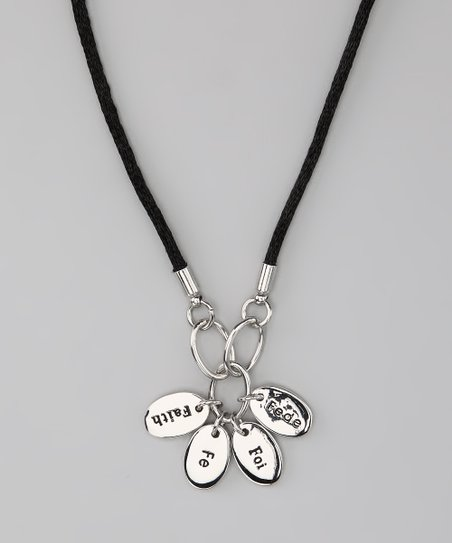 Silver 'Faith' Language Necklace