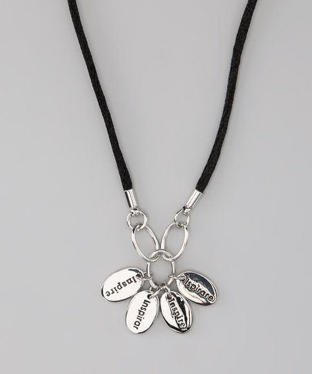 Silver 'Inspire' Language Necklace