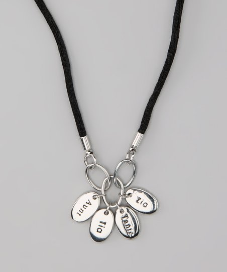 Silver 'Aunt' Language Necklace