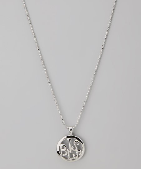 Silver 'Bliss' Circle Word Necklace