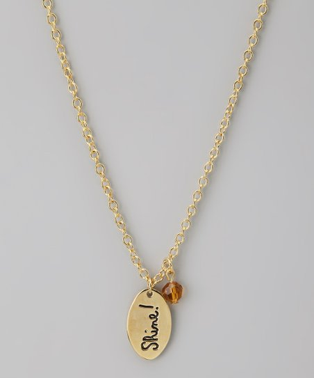 Gold & Topaz 'Shine!' Pendant Necklace