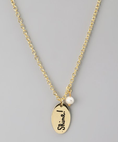 Gold & Pearl 'Shine!' Pendant Necklace