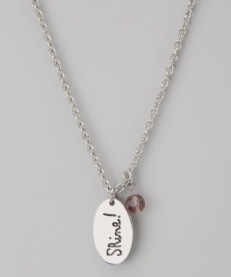 Silver & Purple Amethyst 'Shine!' Pendant Necklace