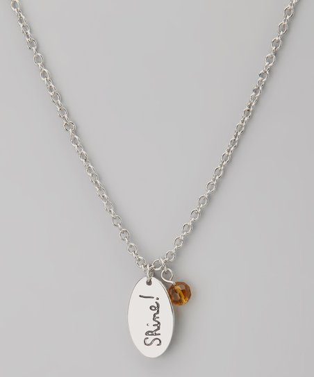 Silver & Topaz 'Shine!' Pendant Necklace