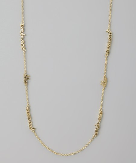 Gold 'Embrace the Moment' Three Word Necklace