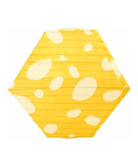 Yellow & White Rhombus Soji Solar Lantern
