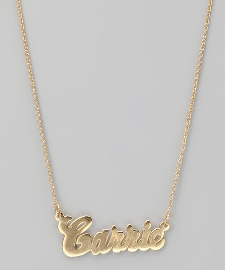 Gold Classic Personalized Pendant Necklace