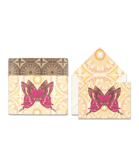 Cid Pear Butterfly Sweet Notes Note Card Set