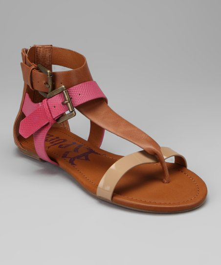 Tan &amp; Pink Odeon Sandal