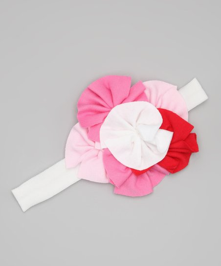 Pink &amp; White Flutter Headband