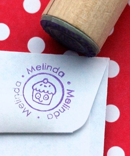 Cupcake Personalized Stamp