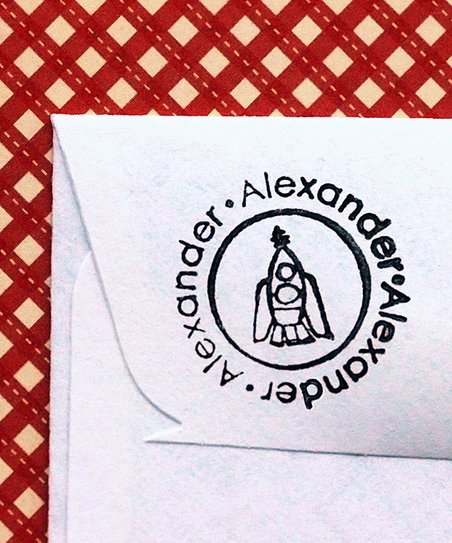 Rocket Ship Personalized Stamp