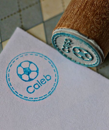 Soccer Ball Personalized Stamp