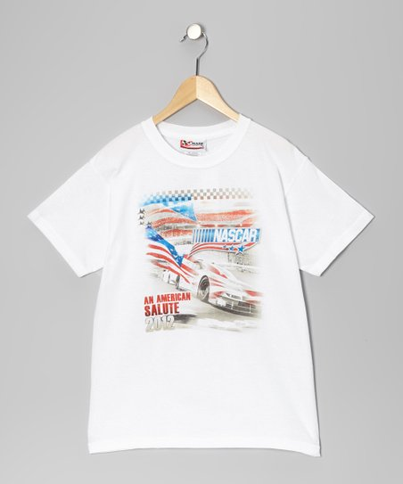 White NASCAR Tee - Kids