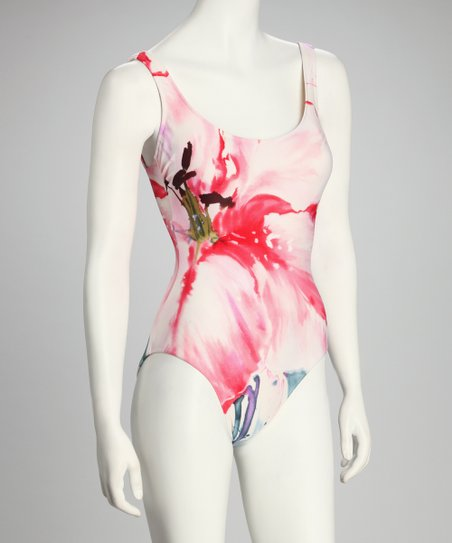 Pink Watercolor Floral One-Piece