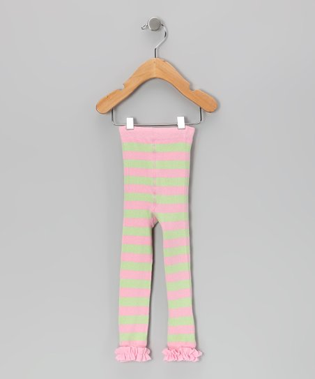 Pink & Lime Ruffle Leggings - Infant