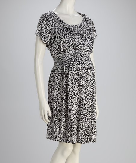 Leopard Nursing Dress