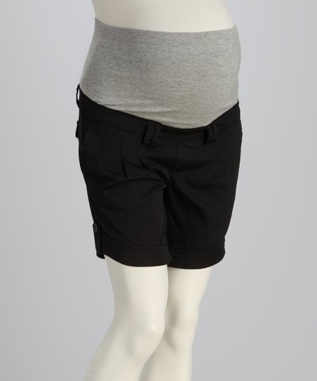 Black Maternity Shorts