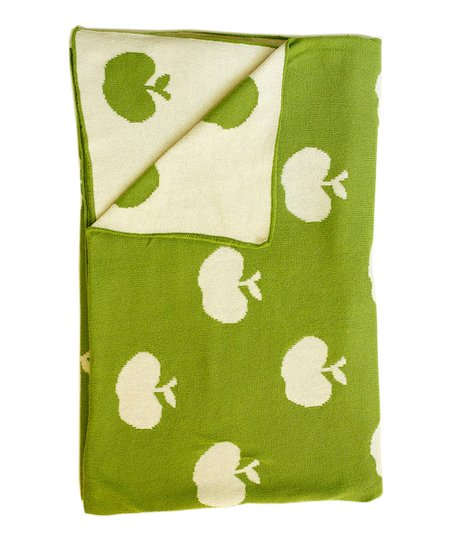 Green & Natural Apple Receiving Blanket