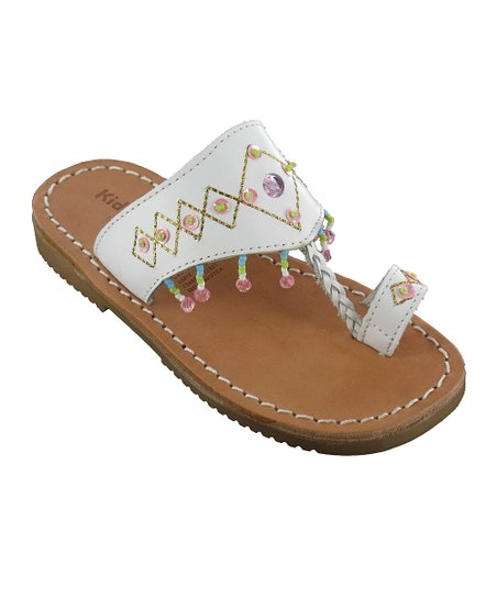 White Guadaloupe Leather Sandal
