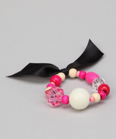 Black French Poodle Beaded Bracelet