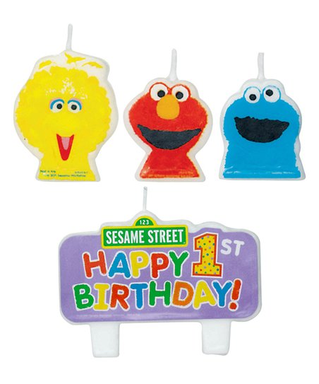 Sesame Street Molded Cake Candle – Set of Eight