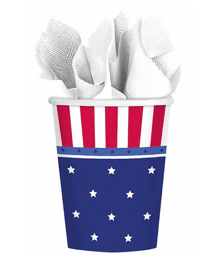 American Flag Paper Cup - Set of 24