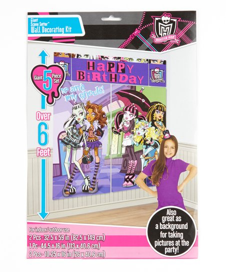 Monster High Scene Setters Wall Decorating Kit