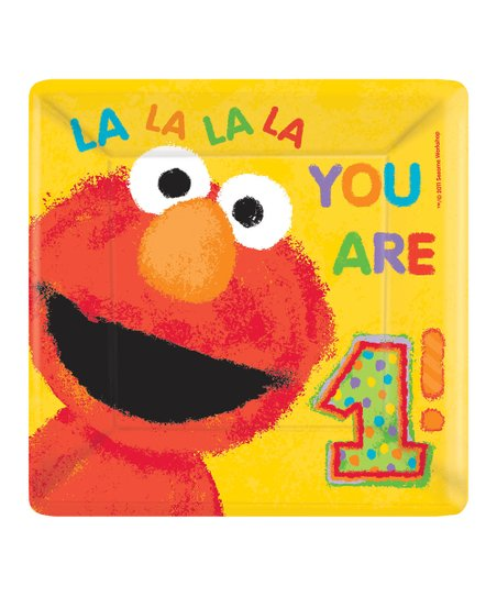 "Elmo '1st Birthday' Square 10"" Plate – Set of 36"